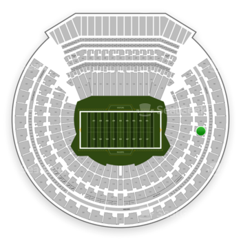 Oakland Raiders at Oakland-Alameda County Coliseum Section 206 View