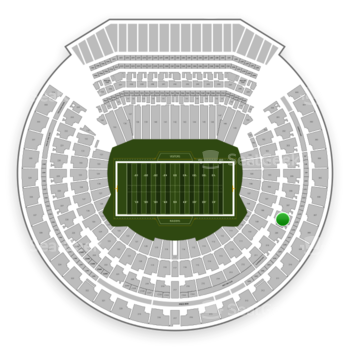 Oakland Raiders at Oakland-Alameda County Coliseum Section 208 View