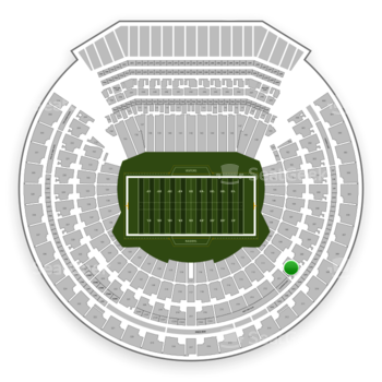 Oakland Raiders at Oakland-Alameda County Coliseum Section 210 View