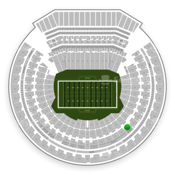 Oakland Raiders at Oakland-Alameda County Coliseum Section 211 View