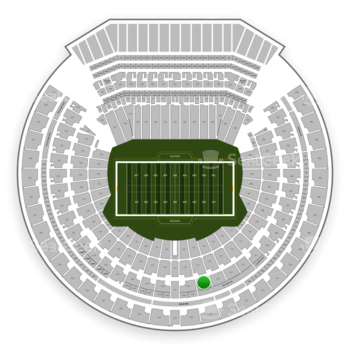 Oakland Raiders at Oakland-Alameda County Coliseum Section 215 View