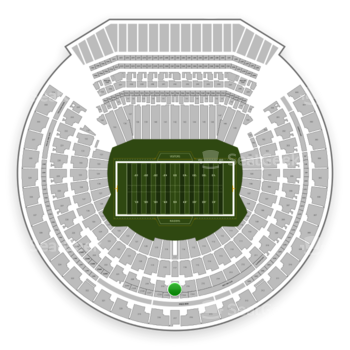 Oakland Raiders at Oakland-Alameda County Coliseum Section 217 View
