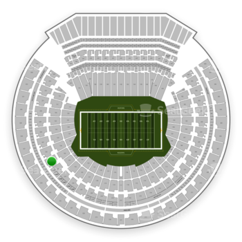 Oakland Raiders at Oakland-Alameda County Coliseum Section 225 View