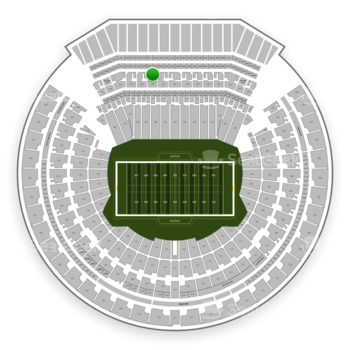 Oakland Raiders at Oakland-Alameda County Coliseum Section 240 View