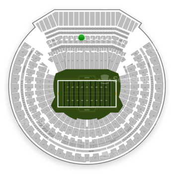 Oakland Raiders at Oakland-Alameda County Coliseum Section 241 View