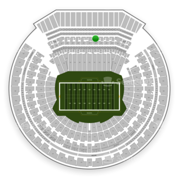 Oakland Raiders at Oakland-Alameda County Coliseum Section 243 View