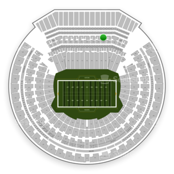 Oakland Raiders at Oakland-Alameda County Coliseum Section 245 View