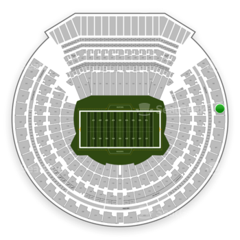 Oakland Raiders at Oakland-Alameda County Coliseum Section 304 View