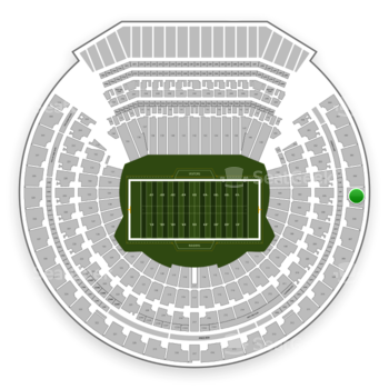 Oakland Raiders at Oakland-Alameda County Coliseum Section 305 View