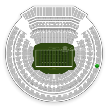 Oakland Raiders at Oakland-Alameda County Coliseum Section 307 View