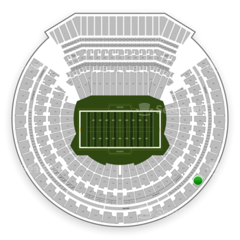 Oakland Raiders at Oakland-Alameda County Coliseum Section 310 View