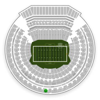 Oakland Raiders at Oakland-Alameda County Coliseum Section 318 View