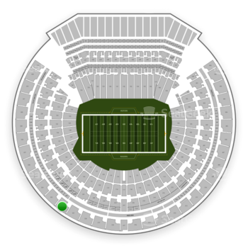 Oakland Raiders at Oakland-Alameda County Coliseum Section 322 View