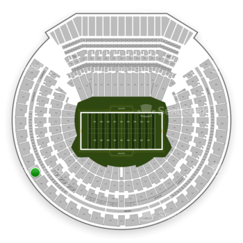 Oakland Raiders at Oakland-Alameda County Coliseum Section 325 View