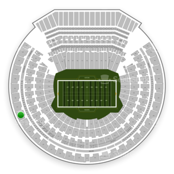 Oakland Raiders at Oakland-Alameda County Coliseum Section 326 View