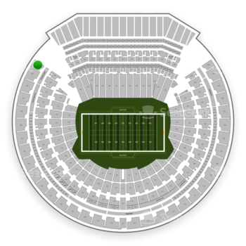Oakland Raiders at Oakland-Alameda County Coliseum Section 334 View