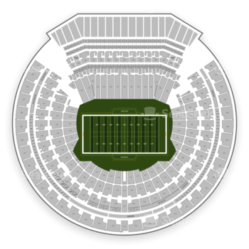 Oakland Raiders at Oakland-Alameda County Coliseum Section 335 View