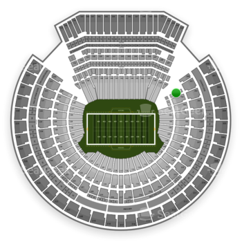 Oakland Raiders at Oakland-Alameda County Coliseum Section 101 View