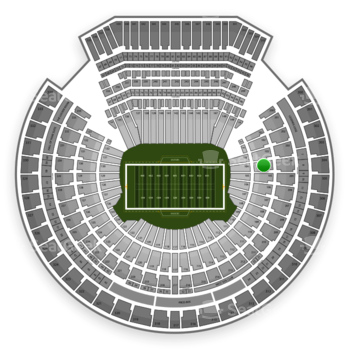 Oakland Raiders at Oakland-Alameda County Coliseum Section 104 View