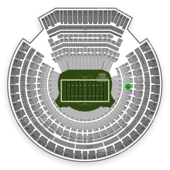 Oakland Raiders at Oakland-Alameda County Coliseum Section 105 View