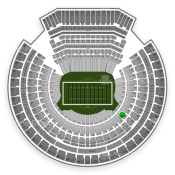 Oakland Raiders at Oakland-Alameda County Coliseum Section 110 View