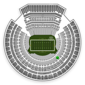 Oakland Raiders at Oakland-Alameda County Coliseum Section 111 View