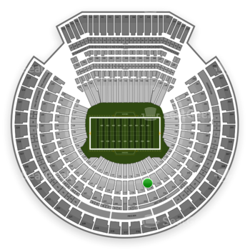 Oakland Raiders at Oakland-Alameda County Coliseum Section 114 View
