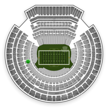Oakland Raiders at Oakland-Alameda County Coliseum Section 127 View