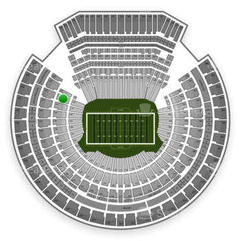 Oakland Raiders at Oakland-Alameda County Coliseum Section 132 View