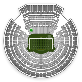 Oakland Raiders at Oakland-Alameda County Coliseum Section 136 View