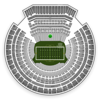 Oakland Raiders at Oakland-Alameda County Coliseum Section 142 View