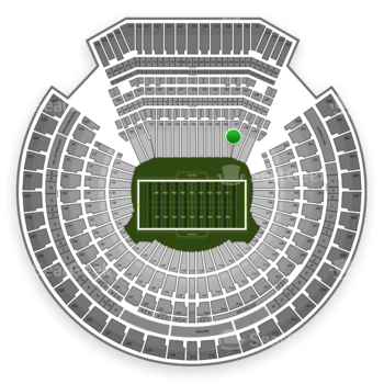 Oakland Raiders at Oakland-Alameda County Coliseum Section 147 View