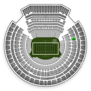 Oakland Raiders at Oakland-Alameda County Coliseum Section 203 View