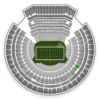 Oakland Raiders at Oakland-Alameda County Coliseum Section 209 View