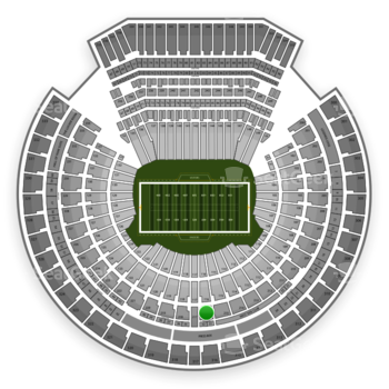 Oakland Raiders at Oakland-Alameda County Coliseum Section 216 View