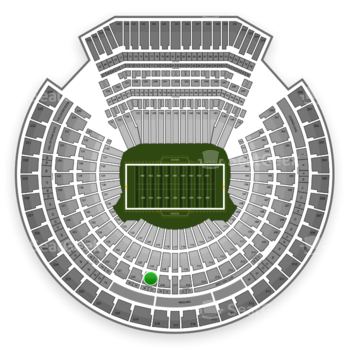 Oakland Raiders at Oakland-Alameda County Coliseum Section 219 View