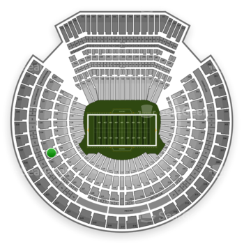 Oakland Raiders at Oakland-Alameda County Coliseum Section 226 View