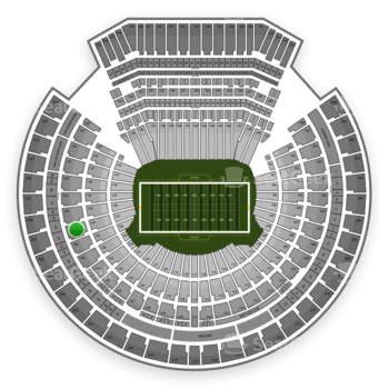 Oakland Raiders at Oakland-Alameda County Coliseum Section 227 View