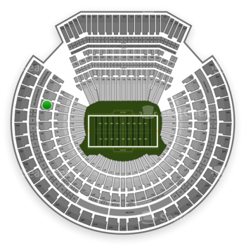 Oakland Raiders at Oakland-Alameda County Coliseum Section 231 View