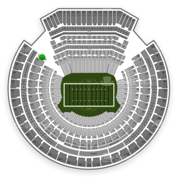 Oakland Raiders at Oakland-Alameda County Coliseum Section 234 View