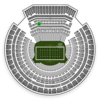 Oakland Raiders at Oakland-Alameda County Coliseum Section 238 View