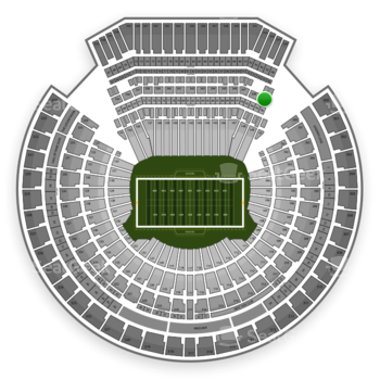 Oakland Raiders at Oakland-Alameda County Coliseum Section 249 View
