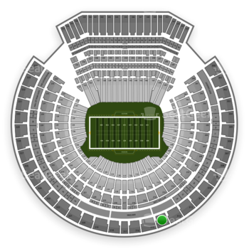 Oakland Raiders at Oakland-Alameda County Coliseum Section 314 View