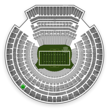 Oakland Raiders at Oakland-Alameda County Coliseum Section 323 View