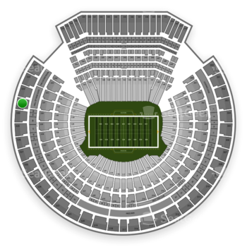 Oakland Raiders at Oakland-Alameda County Coliseum Section 331 View