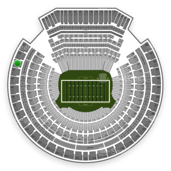 Oakland Raiders at Oakland-Alameda County Coliseum Section 332 View