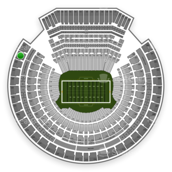 Oakland Raiders at Oakland-Alameda County Coliseum Section 333 View