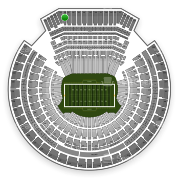 Oakland Raiders at Oakland-Alameda County Coliseum Section 340 View