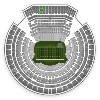 Oakland Raiders at Oakland-Alameda County Coliseum Section 342 View