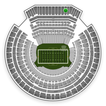 Oakland Raiders at Oakland-Alameda County Coliseum Section 349 View